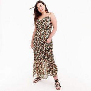J. Crew Mercantile tiered maxi dress in floral